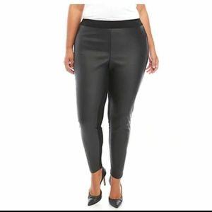 1X-Faux Leather Leggings